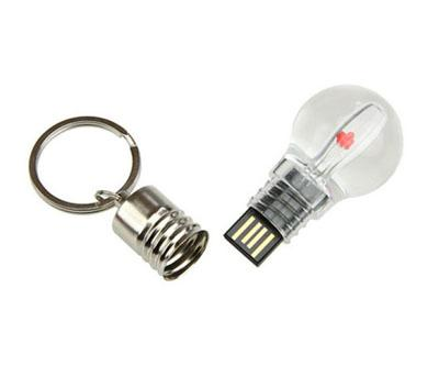 Metal Micro USB Memory Stick Hi-Speed USB 2.0 Light Bulb Shape