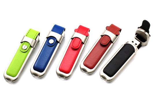 Buckle Leather Custom USB Memory Stick / Promotional USB Thumb Drives