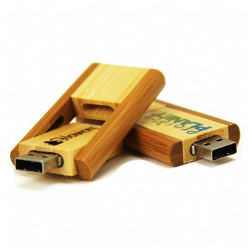 OEM Branded Bamboo Memory Stick / Thumb Drive High Speed USB 2.0 Interface