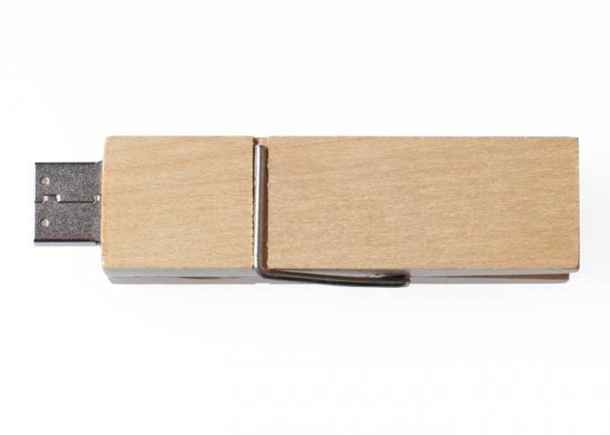 Storage 32G Bamboo USB Flash Drive Memory Stick Clothespin Shaped