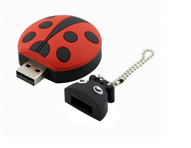 8GB Cute ladybug Plastic USB Flash Drive 32GB Pendrive 16GB USB Memoria stick