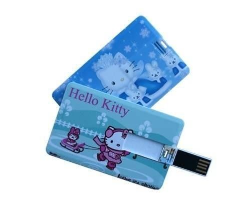 Customize Credit Card USB Flash Drive Memory Stick With Logo Printed