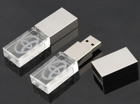 Metal High Speed Crystal USB Flash Drive , Crystal Thumb Drive